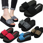 New womens Platform Thong Flip Flops Summer Wedge Slippers Sandals Shoes Gift