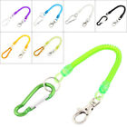 Carabiner Hook Coil Lanyard Spring Key Chain w Lobster Clasp