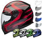 Shox Sniper Skar Full Face Motorbike Motorcycle Tinted Bike Helmet Visor Kit