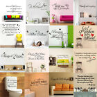 Family Quote Wall Vinyl Stickers Decals DIY Art Decor Home Mural Removable New