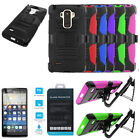 Phone Case For LG G Stylo Tempered Class Screen Holster Clip Rugged Cover Stand
