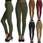 NEW WOMENS RIPPED KNEE COLOURED SKINNY JEANS LADIES HIGH WAIST CUT JEGGINGS LOOK