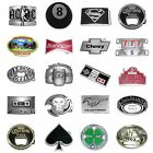 BBUM0342 MANY CASUAL STYLES MUSIC / DRINKS / SUPERHERO ALLOY METAL BELT BUCKLE