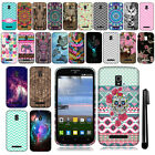 For Alcatel OneTouch Pop Mega LTE A995G D472 Design TPU SILICONE Case Cover +Pen