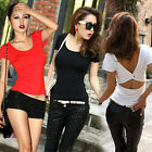 Fashion Womens Summer Vest Top Short Sleeve Blouse Casual Tank Tops T-Shirt