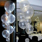 Hotsale!20/50/100Pcs Transparent Latex Balloons Birthday Wedding Party Decor 10""