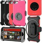 For iPhone 6 4.7 / iPhone 6 Plus 5.5 Extreme Hybrid Case Armor Belt Clip Holster