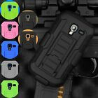 For Samsung Galaxy Exhibit T599 Full Armor Hybrid Case Cover Belt Clip Holster