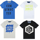 Jack & Jones Rough Crew Print T-Shirt Black White Blue RRP £11.99 *BNWT*
