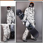 Southplay Mens Winter Premium White Camo Military Ski-Snowboard Jacket Or Pants