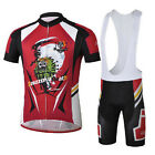 GhostRider Cycling Bike Short Sleeve Clothing Set Bicycle Men Jersey Bib Shorts
