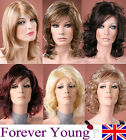 Ladies Medium Wig Blonde Black Brown Wig Bob Style Curly Style Fashion Wigs