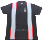 Relco 60s Style Stripe Pique Polo Shirt NAVY Mod Northern Soul 100% Cotton