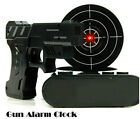NEW Novelty LCD Laser Gun Shoot Target Wake-UP Alarm Desk Decor Clock 4945