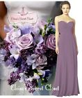 BNWT FEARNE Lavender Passion Strapless Chiffon Bridesmaid Dress UK Sizes 6 - 18