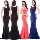 2015 Long Plus Size Mermaid Formal Prom Cocktail Gown Evening Bridesmaid Dress