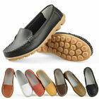 Women Mother Leather Shoes Slip-on White Moccasin Anti-skid Loafer Fashion Pop