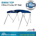 Pontoon+Bimini+Top+Boat+Cover+4+Bow+54%22+H+91%22+%2D+96%22+W+8+ft%2E+L%2E+Solution+Dye+Blue
