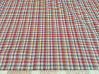 ( Swatch sample)Top Weight Cotton Shirting Apparel Rustic Plaid 016CT