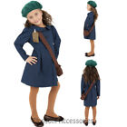 CK475 World War 2 Girls Evacuee WW2 War Time Fancy Dress Up Book Week Costume