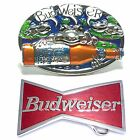 BBUM0100 BEER BAR PUB B U D W E I S E R BEVERAGE DRINKS ALLOY METAL BELT BUCKLE