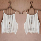 Sexy Women Ladies Summer Sleeveless Camisole Casual Crop Blouse Shirt Tops