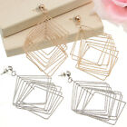 1Pair Multi-layers Round/Square Silver/Gold Fashion Stud Dangle Eardrop Earring
