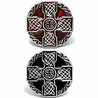 BBUM0377 IRISH CELTIC KNOT WEAVE MEDIEVAL CROSS SHIELD ALLOY METAL BELT BUCKLE