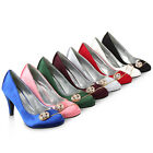 High Heels Damen Pumps Schuhe 95834 Satin Strass Abendschuhe 36-41 Modatipp