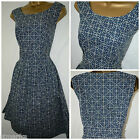 NEW SEASALT GYLLY ANCHOR DRESS RETRO 50'S TEA DRESS NAVY CASUAL SUMMER 8 - 18