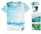 Seascape Quick-drying Sports Cycling Jersey Round Top 3D T-Shirt Tops Tee CC3018