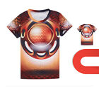 Quick-drying Sports Running Cycling Jersey Round Top 3D T-Shirt Tops Tee CC3024