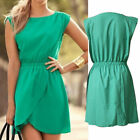 New Womens Casual Sleeveless Irregular Evening Party Cocktail Short Mini Dress