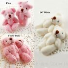 10 to 50 Off White/Pink Mini Teddy Bear Party Favours 40mm