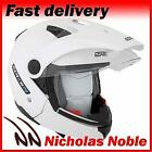 SPADA DUO Gloss White DUAL MODE OPEN FACE FULL FACE MOTORCYCLE SUNVISOR HELMET