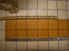 """3/8"""" Wide Anodized Aluminum Cable Chain Gold 3 Feet Lot 1 yard Sewing Trim C131"""