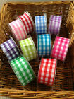 Eleganza Large Gingham cut edge ribbon chequered - 38mm- 11 colours & 4 lengths