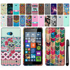 For Microsoft Nokia Lumia 640 Cute Design TPU SILICONE Rubber Case Cover + Pen