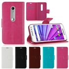 Flip PU Leather Stand Wallet Card Cover Case For Motorola Moto G3 3rd 3 Gen 2015