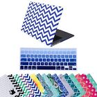"Designer Pattern Case Cover Shell + Keyboard Skin for Macbook Air 11"" 13"" Laptop"