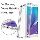 Slim TPU Rubber Clear Crystal Case Cover For Samsung Galaxy S8/ Plus+/S6/S7 Edge