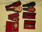 6 Miniature Musical Instrument Guitar French Horn Trumpet Clarinet Violin Cases