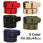 Mens Plain Webbing Canvas Belt 5 Colours Will Fit 28 To 40 Inch