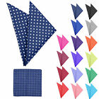 NEW ARRIVAL MENS POLKA DOT HANDKERCHIEF POCKET SQUARE HANKY HIGH QUALITY