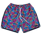Rowdy Gentleman Art Deco 90's Colors Swim Trunks