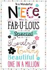open niece birthday card - 6 x cards to choose from