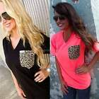 Lady Women's Sexy Summer Short Sleeve V-neck Party Leisure T-shirt Blouse B20E
