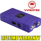 VIPERTEK PURPLE VTS-880 90 MV Rechargeable Police Mini Stun Gun + Taser Case