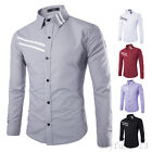 Mens Stylish Slim Fit Casual Shirt Long Sleeve Dress Shirts Spring Autumn Shirts