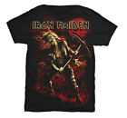 Iron Maiden Benjamin Breeg Red Graphic Adult SS T-shirt - Black
